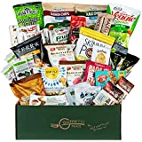 HEALTHY SNACKS CARE PACKAGE [32 Count] Plant-based Gluten Free, Dairy Free, Non-GMO Cookies, Bars, Chips, Puffs, Fruit & Nuts. Gluten Free VEGAN College Care Package by Snack Attack
