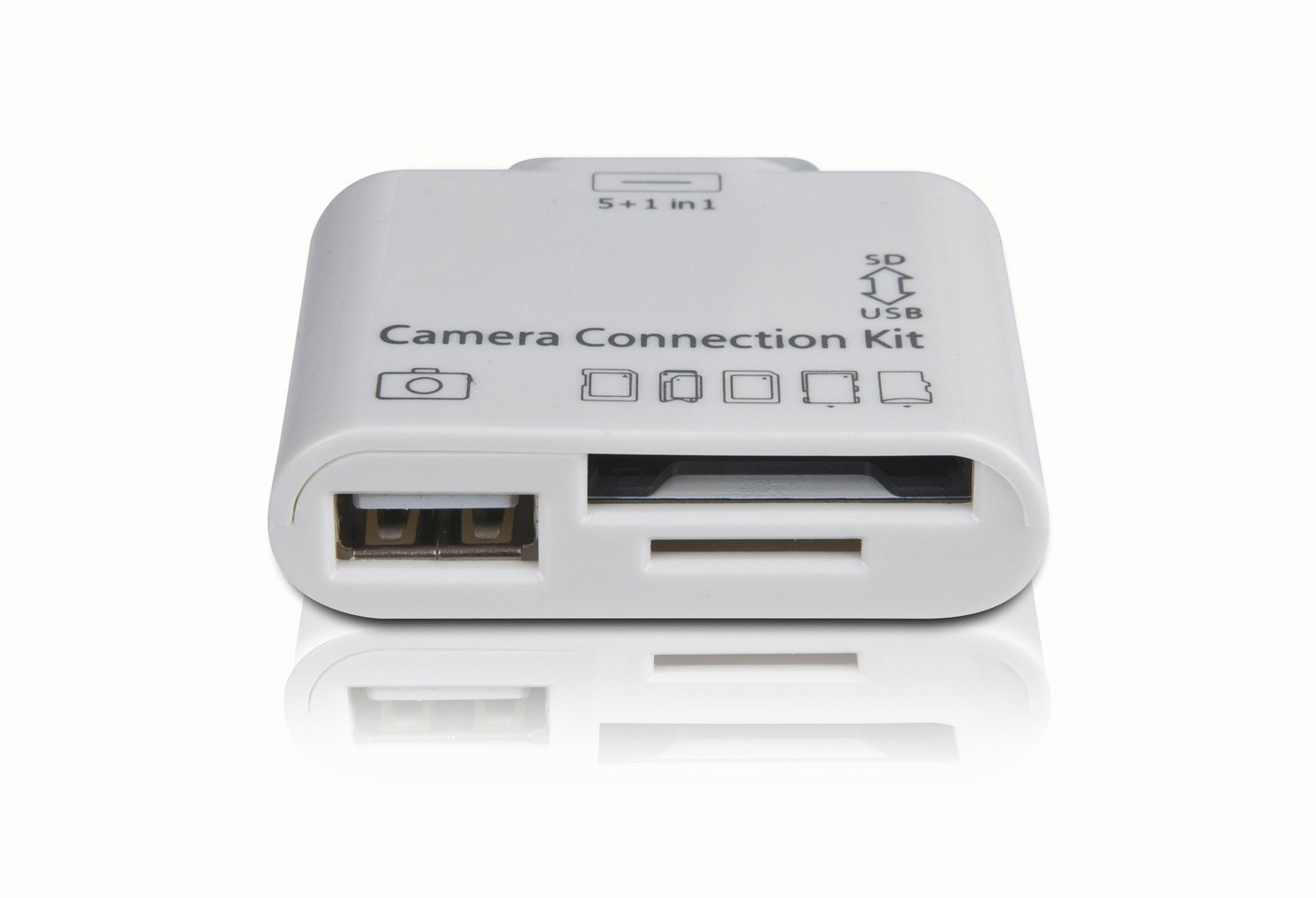Apple iPad 2 & iPad. 5 in 1 Camera Connection Kit Card Reader, for ...