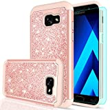 Galaxy A5 2017 Glitter Case with HD Screen Protector,LeYi Luxury Bling Cute Girls Women Design [PC Silicone Leather] Heavy Duty Protective Phone Case for Samsung Galaxy A5 2017 TP Rose Gold