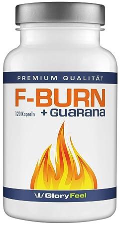 F-BURN Kapseln PREIS-LEISTUNGSSIEGER 2019* - Grüner Tee plus Grüner Kaffee und Guarana Extrakt - 120 vegane Kapseln - Laborge