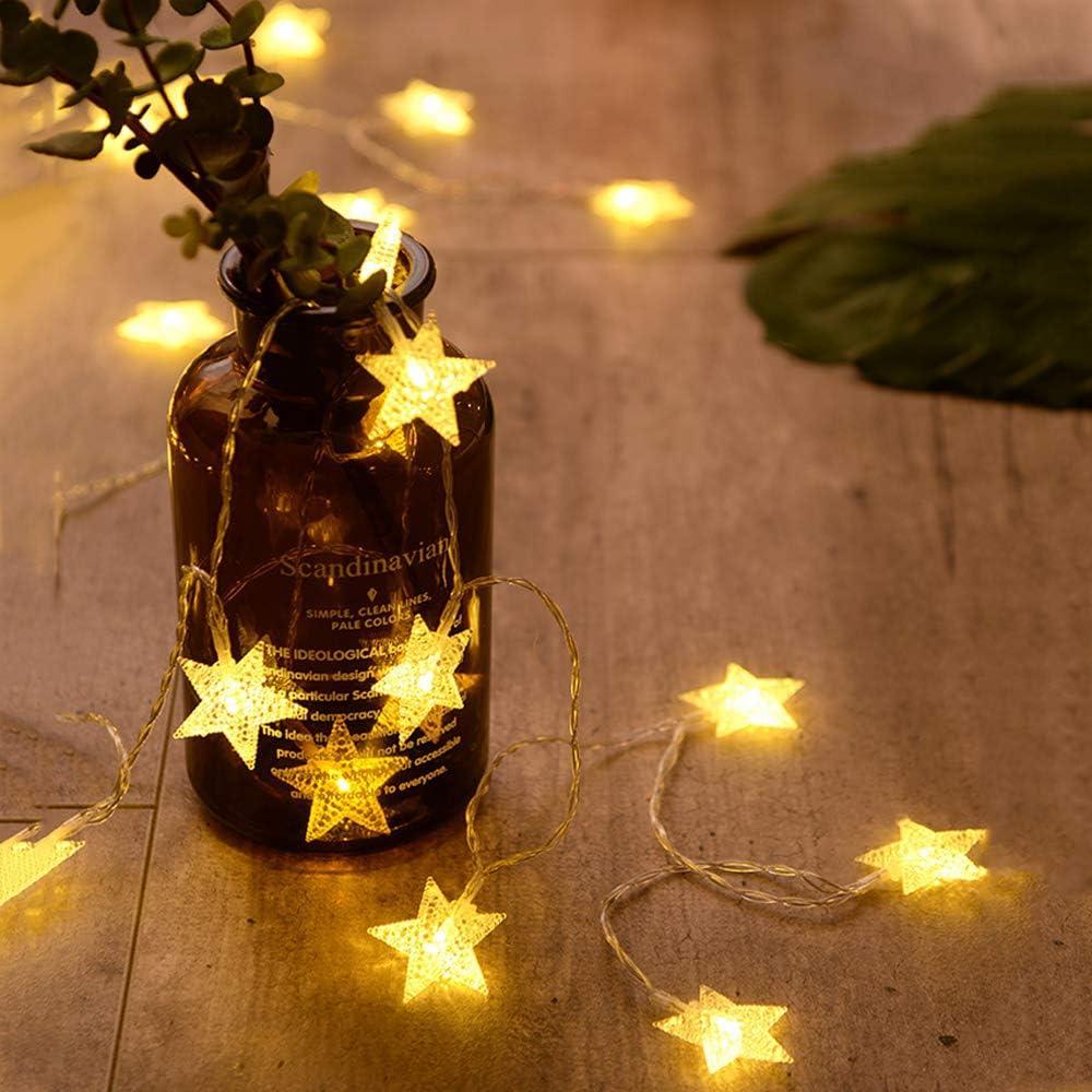 3m-6m Christmas LED Snowflake String Fairy Lights Battery Operated Xmas Light US
