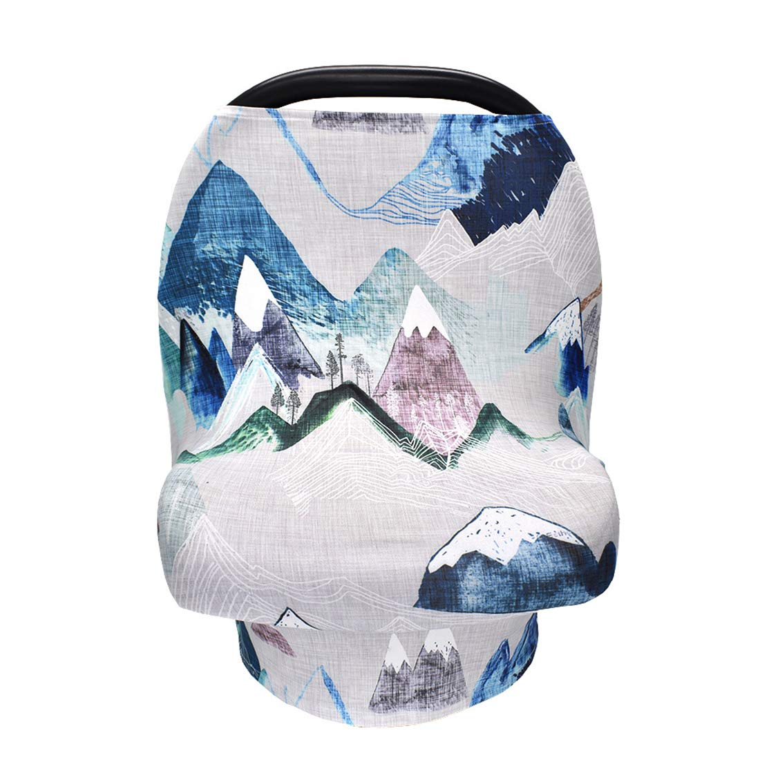 Wild World Pattern Stroller Cover Privacy Nursing Cover Baby Carseat Canopy High Chair Cover Nursery Cover Breastfeeding Scarf for Boys and Girls Blue