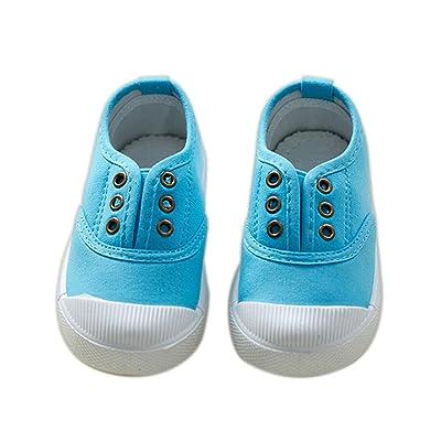 ALUK- Chaussures De Toile Pour Enfants Petits Chaussures Blanches Chaussures Bébé Étudiants Chaussures ( couleur : Le ciel bleu , taille : 25 )