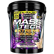 MuscleTech Mass Tech Mass Gainer Whey Protein Powder, Build Muscle Size & Strength with High-Density Clean Calories, Vanilla Milkshake, 22lbs (10kg)