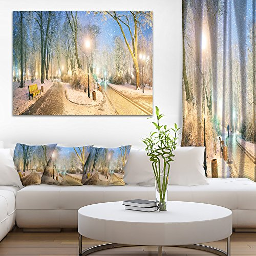 Mariinsky Garden Wider View Landscape Photography Canvas Print