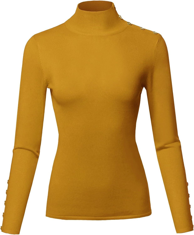 Alion Mens Fashion Slim Fit Basic Letter Turtleneck Pullover Sweaters