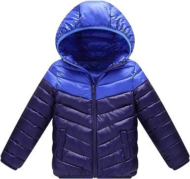 Amazon.com: SK Studio Baby Boys Girls Down Alternative Winter Warm Hoodie  Jacket Lightweight Windproof Outwear with Pockets: Clothing