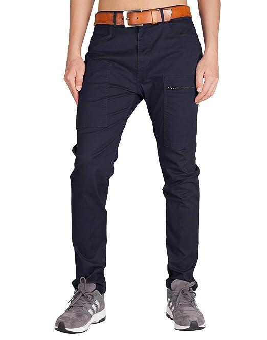 ITALY MORN Pantalón para Hombre Casual Chino Cargo Slim fit 6 Colors: Amazon.es: Ropa y accesorios