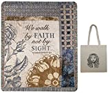 We Walk By Faith Inspirational Throw Blanket & Tote Multipack Religious Gift