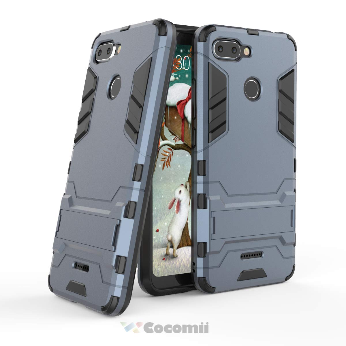 Cocomii Black Panther Armor Xiaomi Redmi 6 Case NEW [Heavy Duty] Premium Tactical Metal Ring Grip Kickstand Shockproof Hard Bumper Shell [Works With Magnetic Car Mount] Full Body Dual Layer Rugged Cover for Xiaomi Redmi 6 (B.Jet Black)