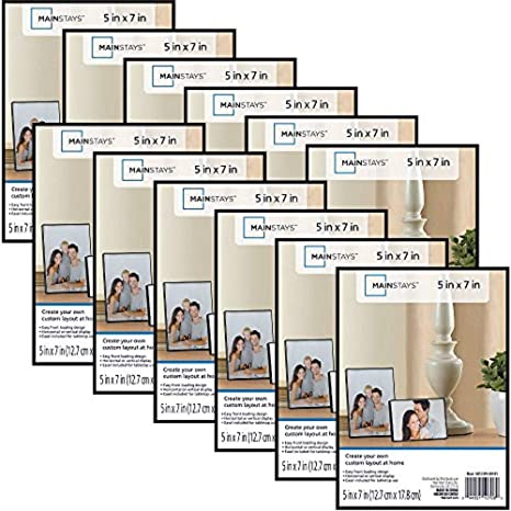For Wall or Tabletop Display Snap 5x7 Front Loading Narrow Photo Frame Set of 12