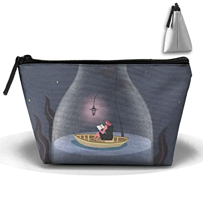 Unisex Stylish And Practical Artistic Rose Flower In A Bottle Boat Trapezoidal Storage Bags Handbags