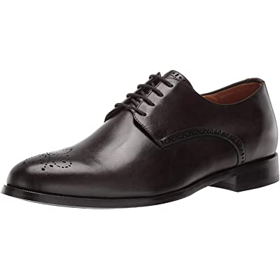 MARC JOSEPH NEW YORK Men's Leather Oxford Lace-Up Wingtip Dress Shoe, Graphite Brushed Nappa, 11 M US | Oxfords