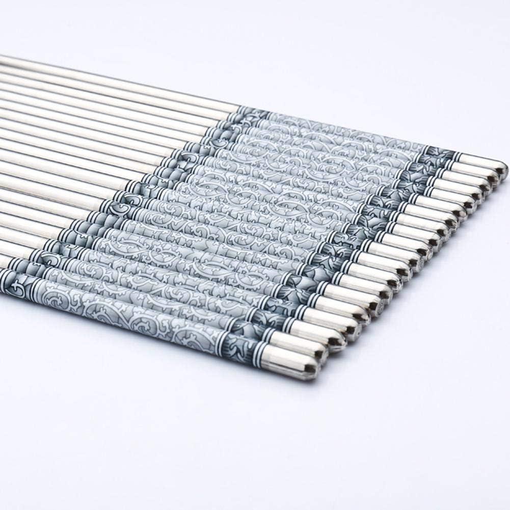 admired Silber eginvic Essst/äbchen 2020 Chinesischen Stil L/änge 1 Paar 8,8 Zoll Wei/ße Essst/äbchen Muster Rebe Essst/äbchen Edelstahl 100 Hohe Qualit/ät
