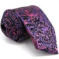 Shlax&Wing Purple Neckties for Men Floral ties Wedding Silk