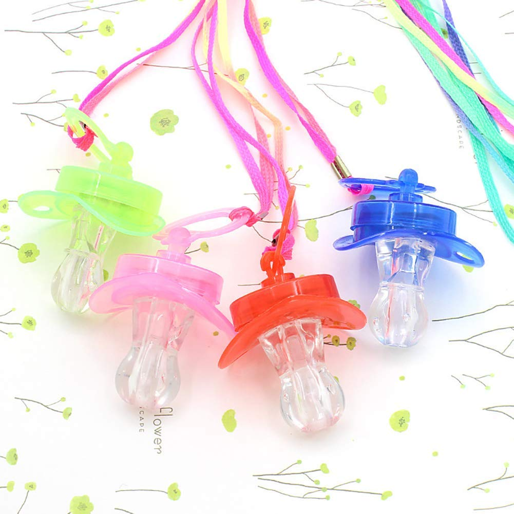 Yevison LED Flashing Light up Nippletype Whistle Lanyard Party Concert Cheering Favor Random Color High Quality by Yevison (Image #2)