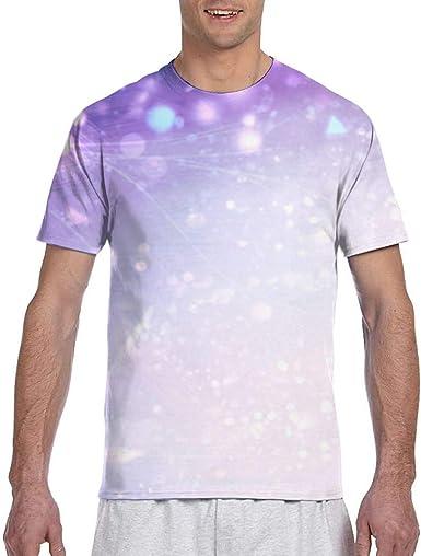 City of Light Wallpaper Camisa Casual de Manga Corta para Hombre Camisetas de béisbol Ajustadas tee: Amazon.es: Ropa y accesorios