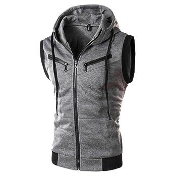 6d272fcb15993 Amazon.com  Men s Gyms Fitness Hoodie Vest