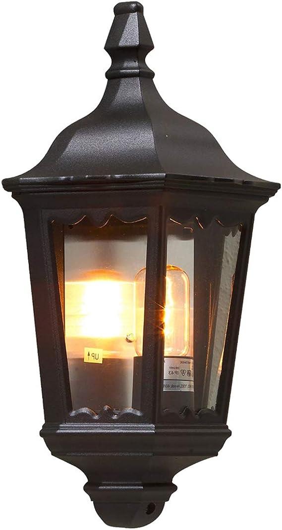 Schwarze Halbschalen Außenwandleuchte FIRENZE Wandleuchte Wandlampe