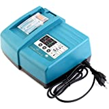 Caricatore 18V per batterie Makita BL1815 BL1830 BL1840 BL1850 BL1430 BL1415 BL1440 BL1450, solo per batterie agli ioni di litio da 14,4V e 18V