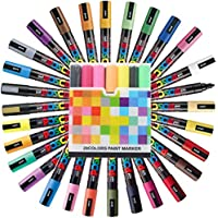 Pen Case With Uni-Ball Marker Pen Uni Posca PC-5M Medium Point Full Range 29 Colours