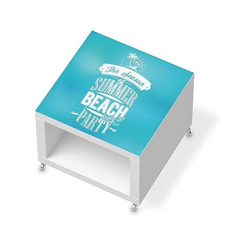 Adhesivo decorativo para IKEA lacado de la mesa auxiliar con ruedas | Decoración de hojas de