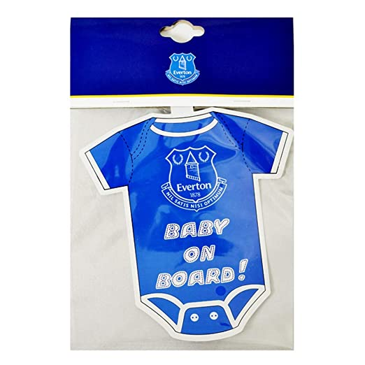 a846f6c5e Amazon.com  Everton FC Kit Baby On Board Car Sign (One Size) (Blue ...