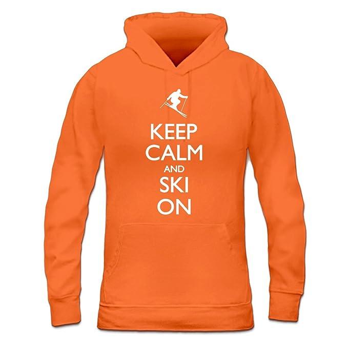 Shirtcity Sudadera con Capucha de Mujer Keep Calm and Ski On by: Amazon.es: Ropa y accesorios