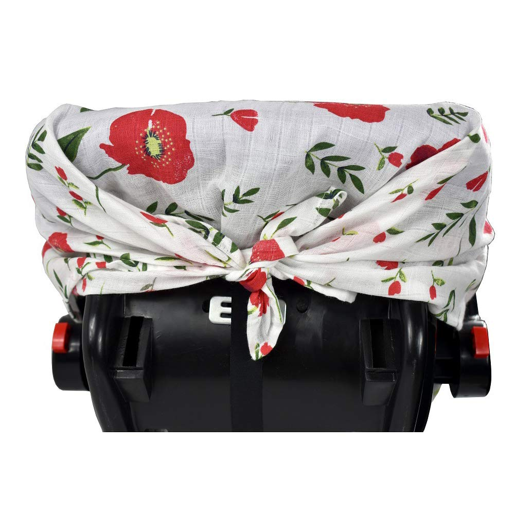 Unisex Multifunction Large Lightweight Stroller Covers Pineapple Infant Carrier Safety Basket Sunshade Covers QCWN Baby Car Seat Cover Breathable 100/% Cotton Muslin Carseat Canopy