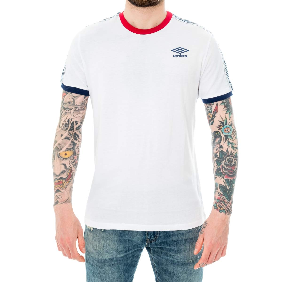 Umbro T-Shirt UOMO RAP00082B.Wht (L - Bianco): Amazon.es: Ropa y ...