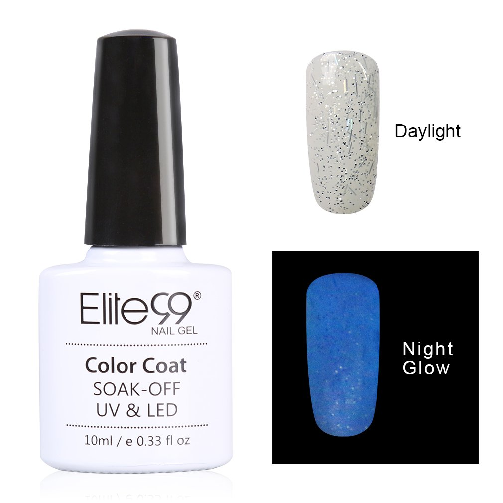 Amazon.com : Elite99 Night Glow In the Dark Gel Nail Polish Soak Off ...