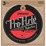 D'Addario EJ45-3D Pro-Arte Nylon Classical Guitar Strings, Normal Tension, 3 Sets