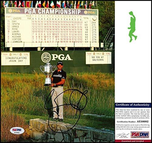 Autographed Jason Day Photo - 8x10 Championship Tour Coa - PSA/DNA Certified - Autographed Golf Photos (8x10 Certified Autograph Photo Golf)