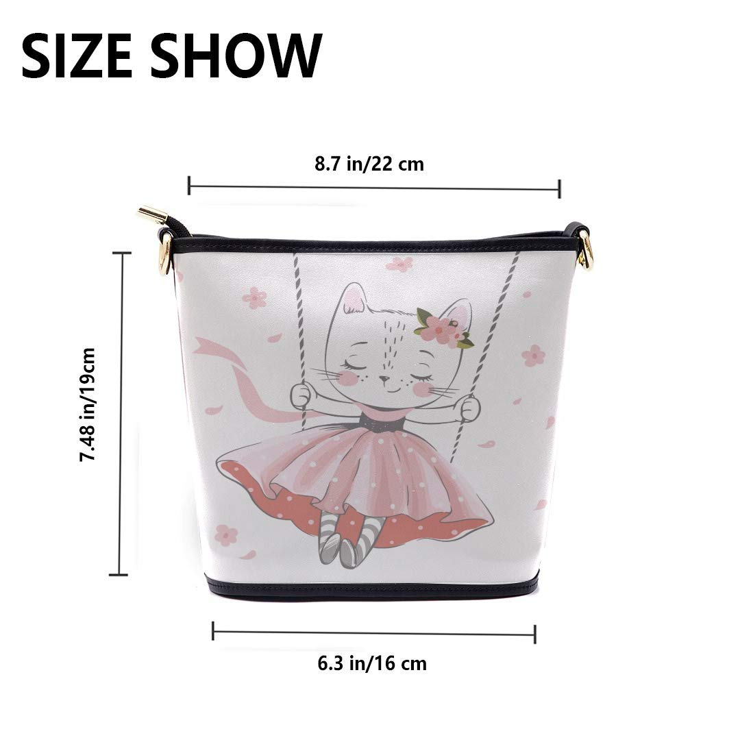 Woman Ladies Bag Cute Kitten Is Swinging Multi-functional Wristlet Zipper Pocket Small Wristlet Mens Crossbody Messenger Bag Womens Crossbody Messenger Bag Mens Business Shoulder Bag