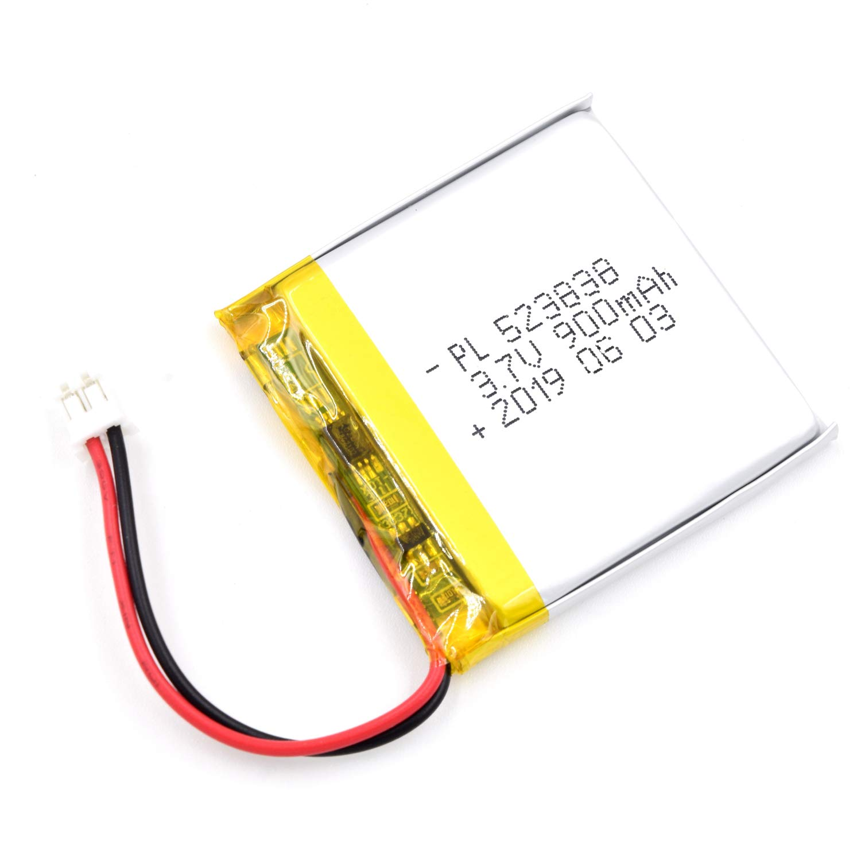 Bateria Lipo 3.7V 900mAh 523838 Recargable JST Conector