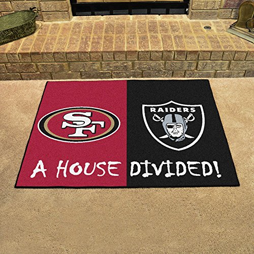NFL House Divided - 49ers/Raiders Rug, 34