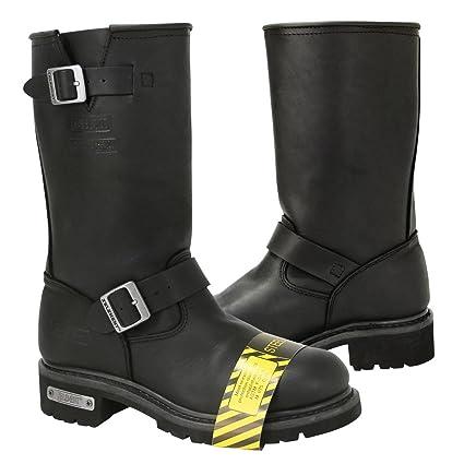 c171cbde819 Xelement 1445 Mens Black Steel Toe Motorcycle Engineer Boots - 8 1/2