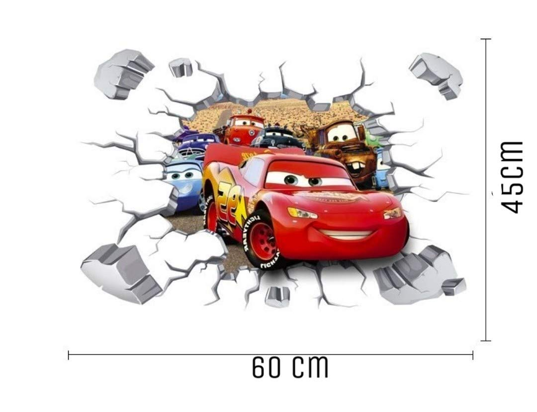 Kibi Cars 3D Aufkleber Cars Wandtattoo Cars Wandaufkleber Cars 3 Wandsticker Cars Disney Wandtattoo Cars Kinderzimmer Abnehmbare Aufkleber Wall Stickers Cars Dekoration