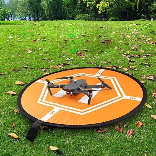 attrasfjwanrw Folding Helipad Landing Pad Parking Apron for DJI Drone, Waterproof (Nylon Flower Decor)