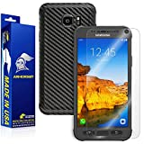 ArmorSuit MilitaryShield - Samsung Galaxy S7 Active Screen Protector + Black Carbon Fiber Skin Back Protector w/ Lifetime Replacements - Front Anti-Bubble Ultra HD Shield