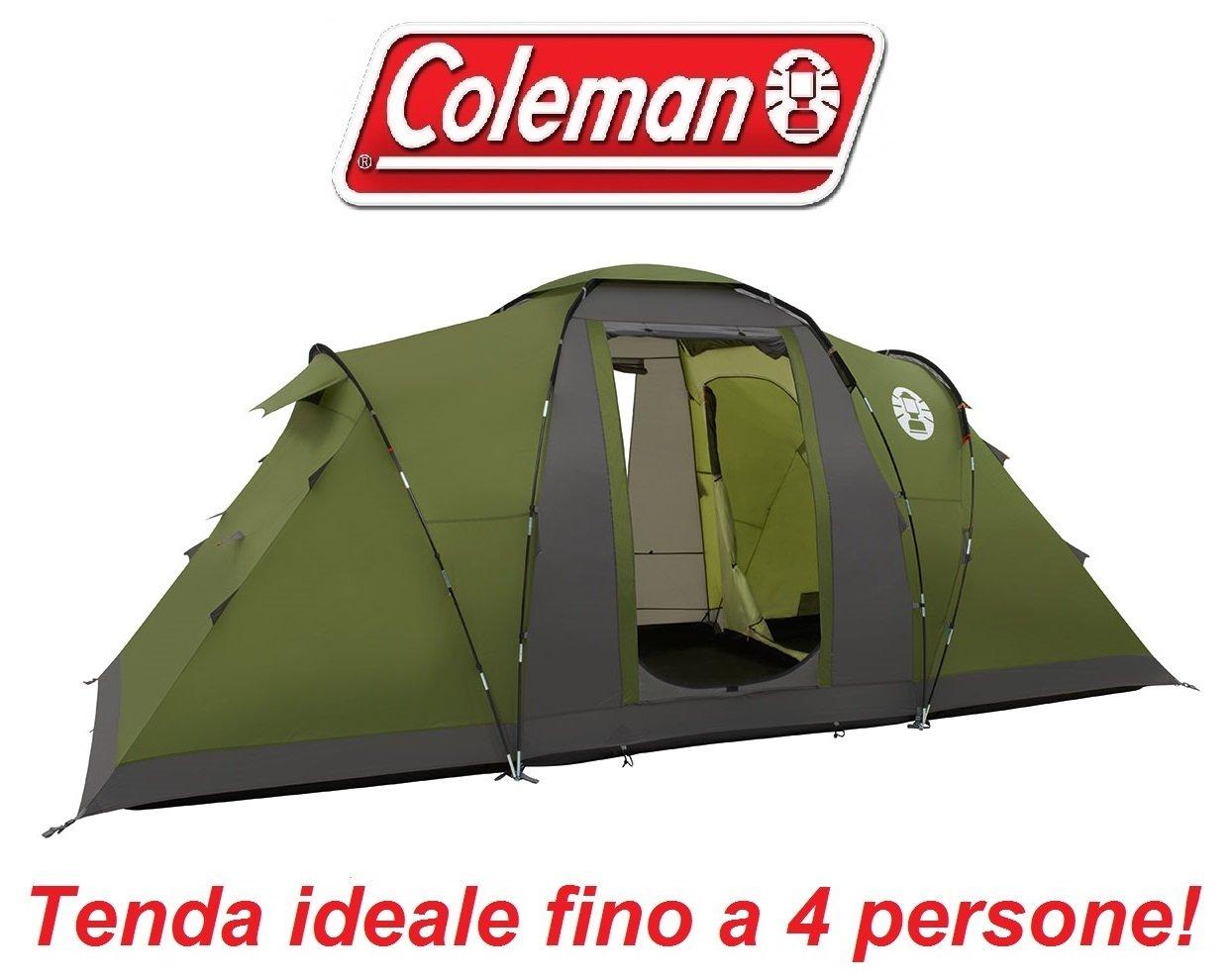 Familienzelt für Camping für 4 Personen Modell Bering Marke Coleman mit Stoff Autofokus verzögert und Tragetasche