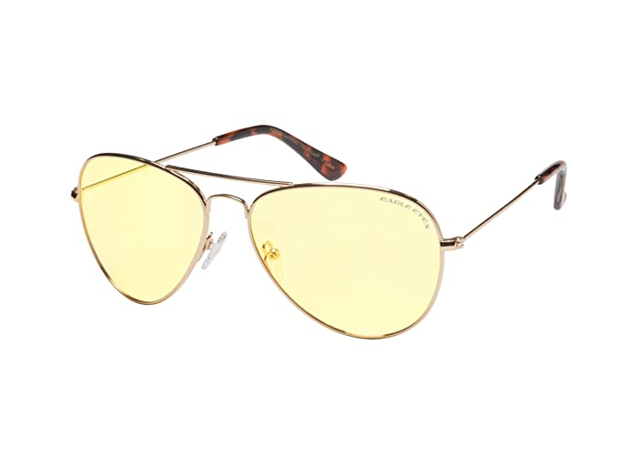 ffa2ee539f Eagle Eyes Aviator Night Driving Glasses  Amazon.in  Clothing ...
