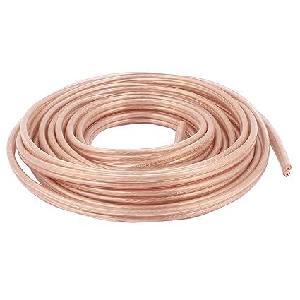 amazon com uxcell 5 meter 16 ft speaker 300 copper wire core cable rh amazon com