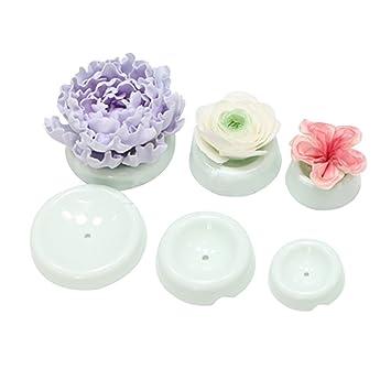 Yijia 6 pcs/Set botón formas Fondant Formación tazas taza de secado moldes flores flor soporte decoración de pasteles herramientas PACK de 2: Amazon.es: ...