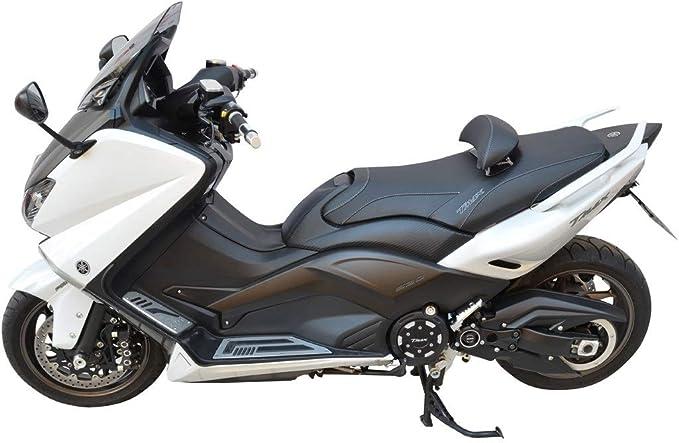 Sitzbankbezugnerung Yamaha T Max 500 08 11 T Max 530 12 16 Schwarz Grau Mit 2 Gestickten Logos Auto