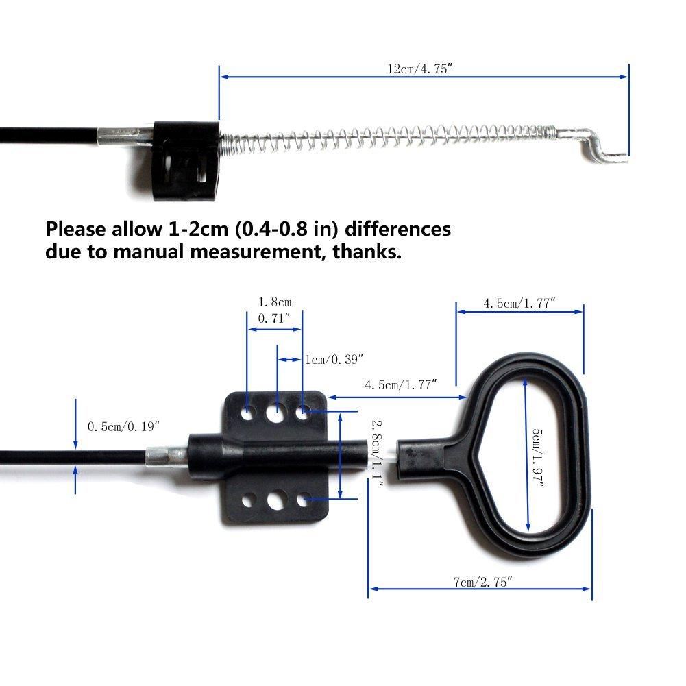 Love&Mini Recliner - Repuesto de Cables de liberación fiable, Mango en Forma de D
