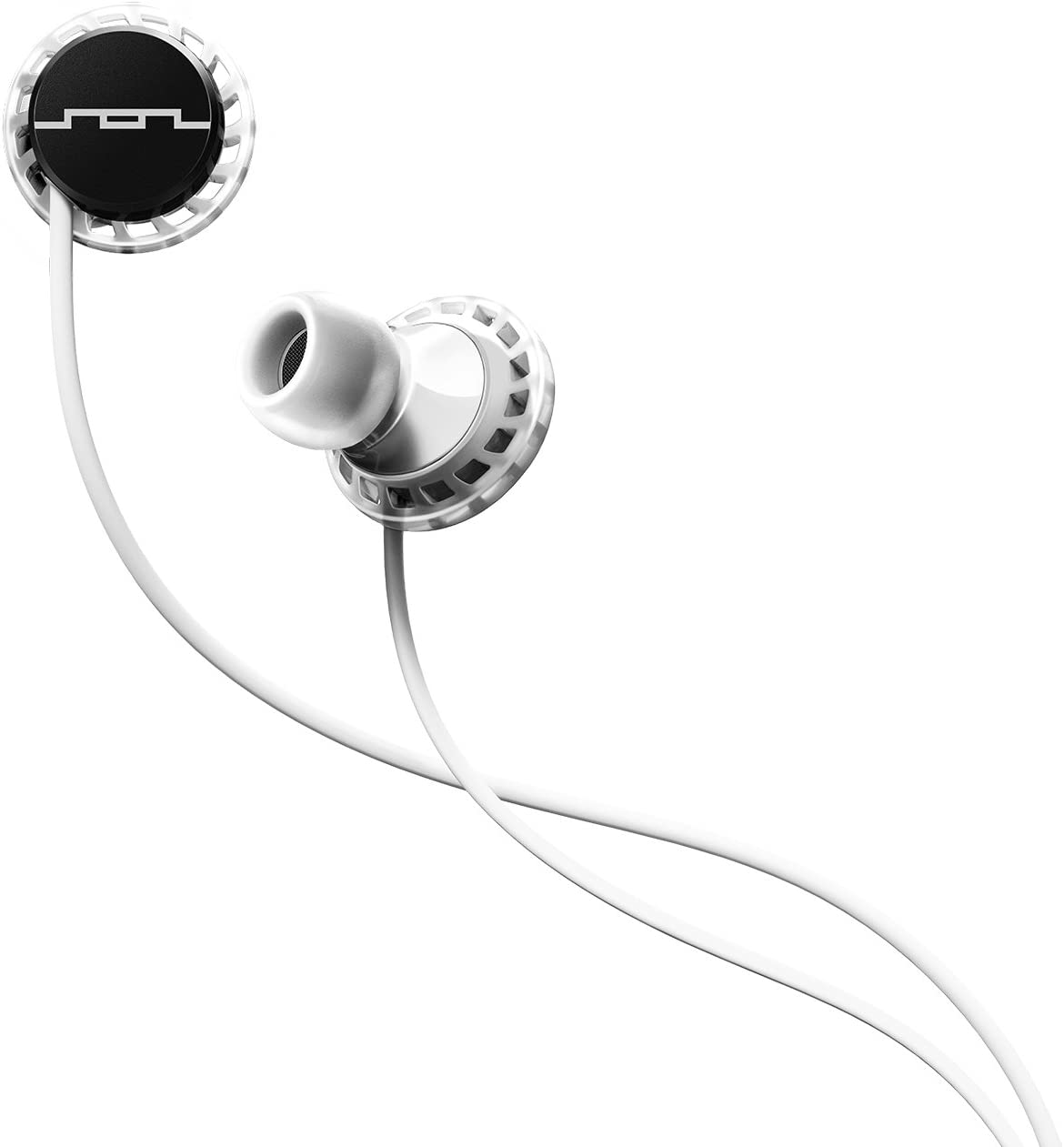 SOL REPUBLIC Relays Sport Wired 3-Button In-Ear Headphones, Apple Compatible, Secure Fit For Workouts, Won't Fall Out, In-Ear Noise Isolation, 4 Ear Tip Sizes, Great For Calls, 1151-41 WhiteBlack