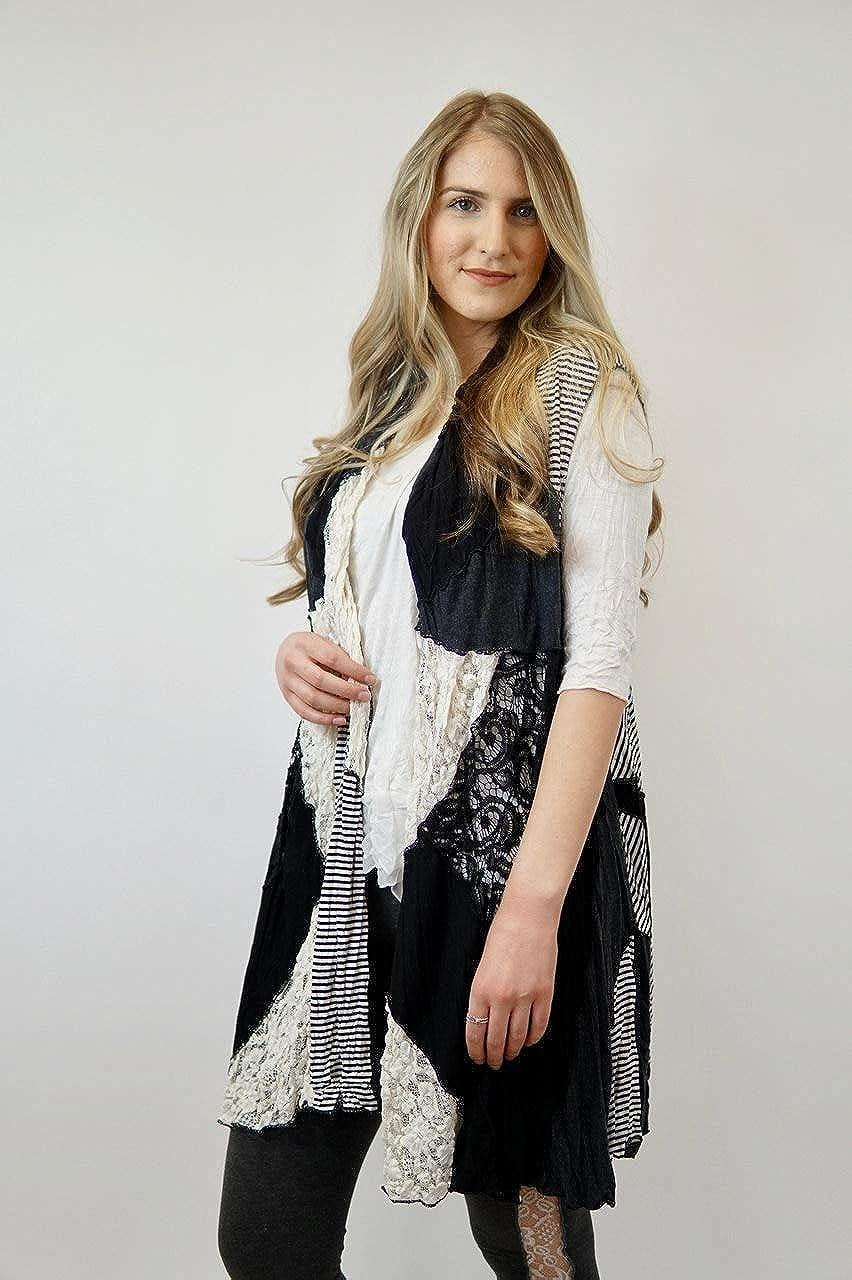 Flor De Sol Venessa Black//Ivory//Stripe S//M