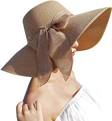 Staresen Sombrero Sombreros de Sol de Verano, Mujeres Cosidas ...