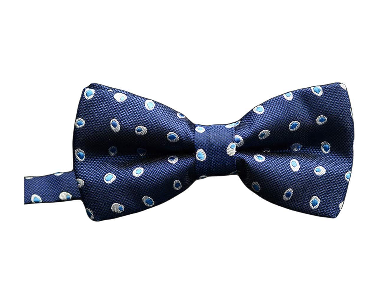 BESMODZ Fashionable Pre-tied Adjustable Mens Bow Tie Formal Wedding Party Bowtie